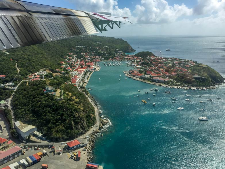 Aerial shot of Saint Barth