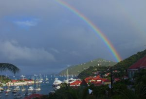 Rainbow over Saint Barth