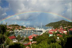 Rainbow over Gustavia, St Barthelemy