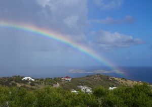 rainbow over Saint Barth